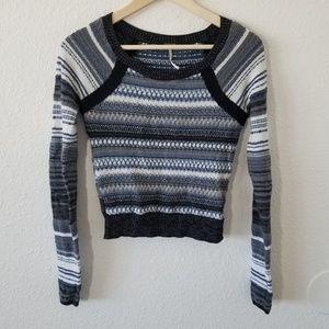 Free People Striped Knit Sweater